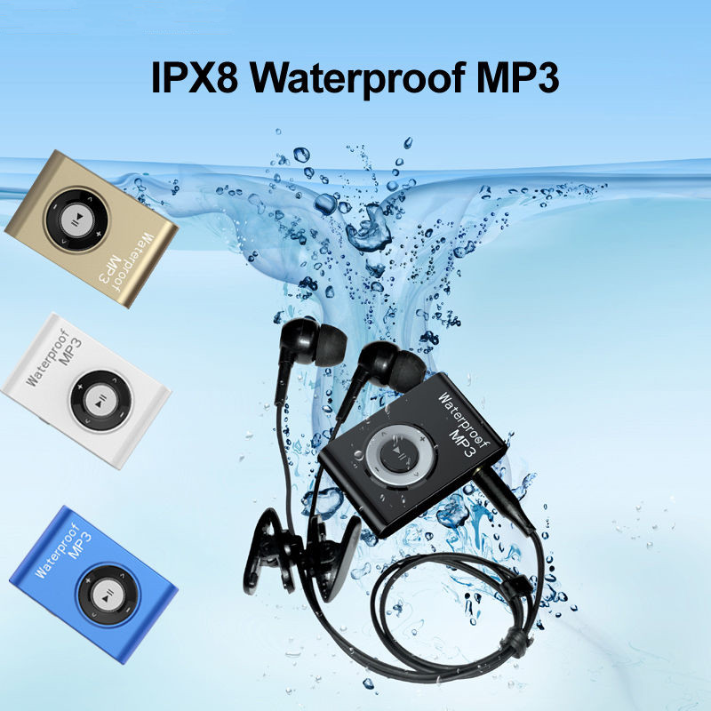 2019 4GB 8GB Waterproof IPX8 Sports MP3 Player Lavalier FM Radio Swimming Surfing Running MP3 With Earphones Underwater