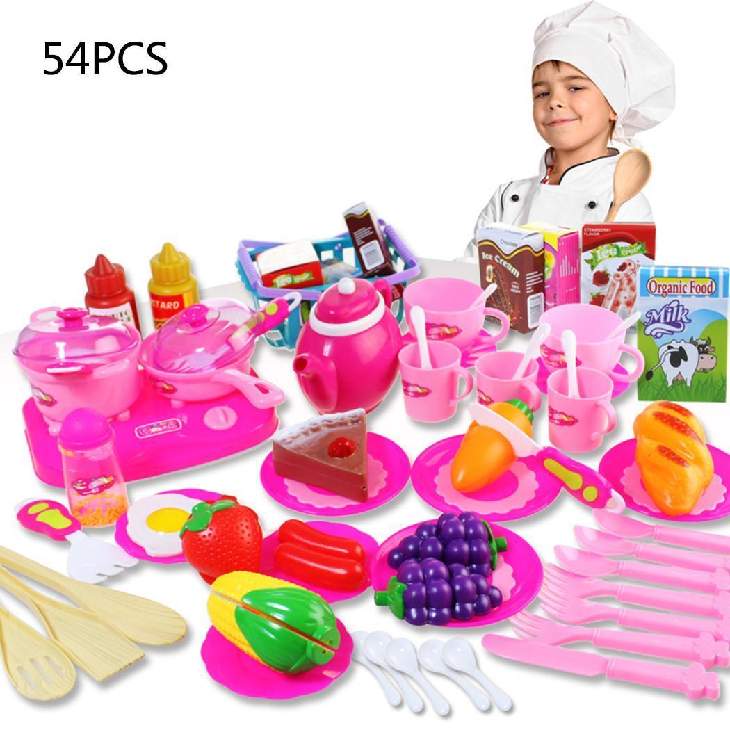 Children Durable Simulator Kitchen Cooking Tableware Kitchenware Toy Set Indoor Toy Outdoor Unisex 3 Years Old