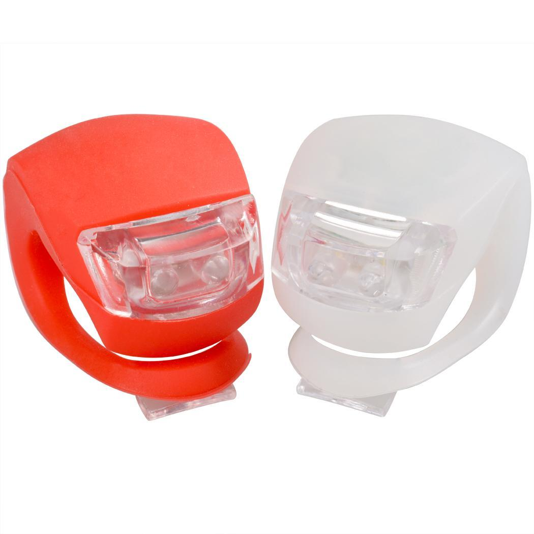 Cycling Safety Lamp White Off Flash Bicycle Light Flash Lamp Red Slow Red Steady Fast Bike Silicone Led Flash Bicycle Light Cycling