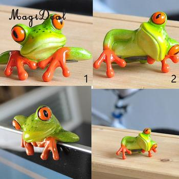 MagiDeal שרף Creative 3D מלאכת צפרדע צלמית קישוט קישוט פסל בית תפאורה גן שולחן שולחן מדף צלמיות מתנה