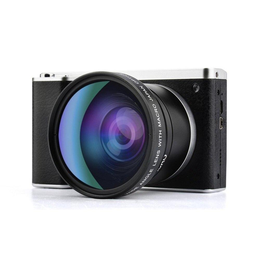 4 дюймов ультра Высокое разрешение 24 млн пикселей 1080 P 12X Оптический зум Широкий формат Micro Один Камера ips Сенсорный экран SLR камер