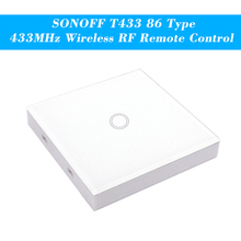 SONOFF T433 86 Type Luxury Wall Touch Panel Sticky 433MHz Wireless RF Remote Control Transmitter Automation Modules 1 Gang
