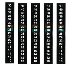 Аквариумный термометр для аквариума, температурный стикер, аквариумные аксессуары, цифровая двойная шкала, клейкая лента для ЖК-дисплея