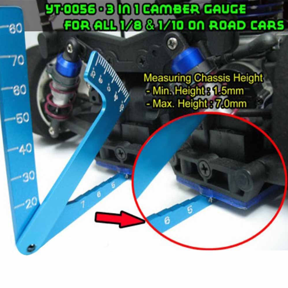 <font><b>RC</b></font> 1/8 1/10 Car <font><b>Set</b></font> Up Tool chassis Suspension <font><b>Wheel</b></font> Camber Ride Height Guage image