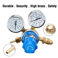 Argon Oxygen Regulator Reducer Mig Flow Meter Pressure Gas Solid Brass Welding Fit Victor Gas Torch Cutting