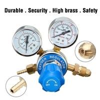 Argon Oxygen Regulator Reducer Mig Flow Meter Pressure Gas Solid Brass Welding Fit Victor Gas Torch Cutting