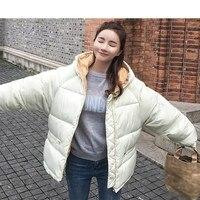2018 Womens Cotton padded Jacket Fashion Winter Parka Women Black Coat Parka Outerwear