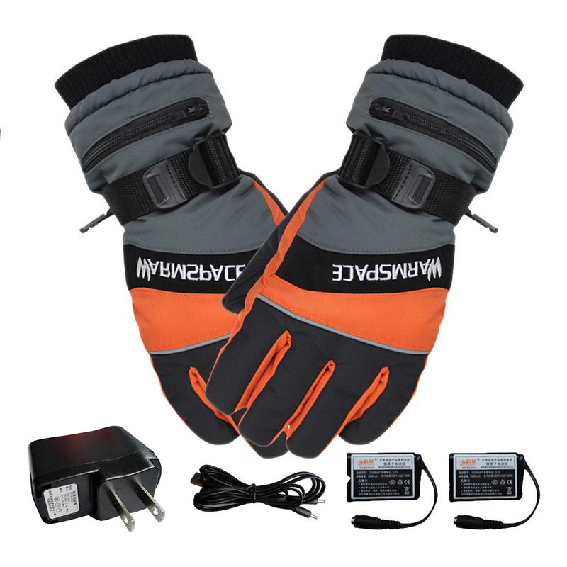 Hand-Warmer Heated-Gloves Battery-Powered Motorcycle Electric Winter Waterproof USB