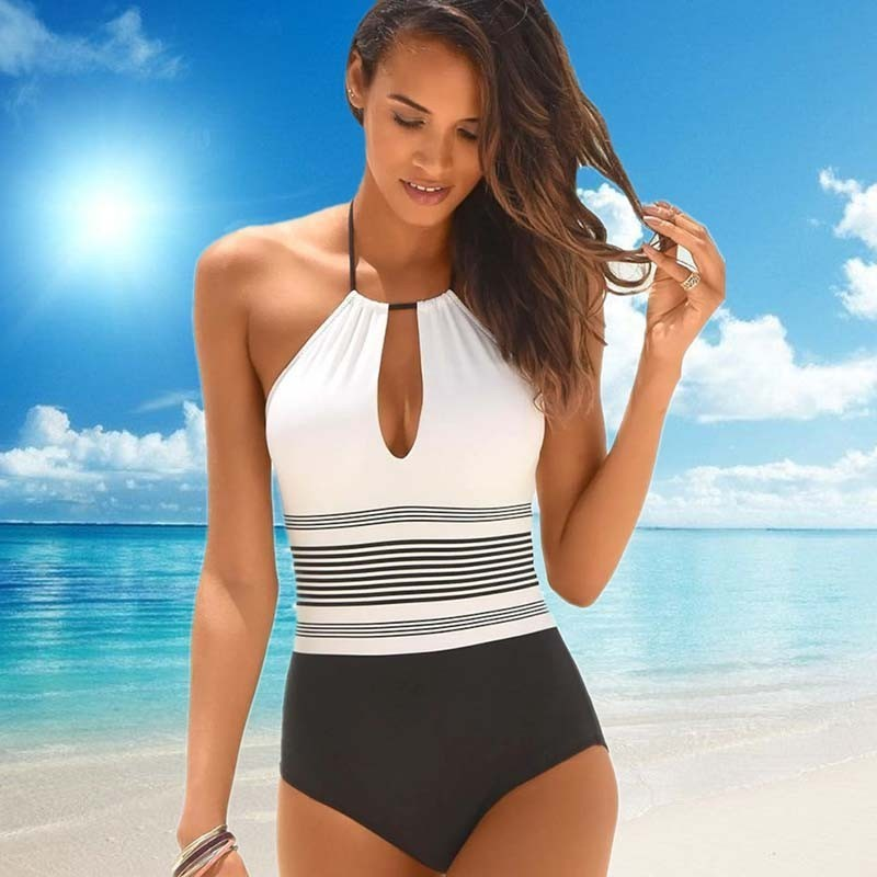 One-Piece Swimsuit Closed Fused Women Bather Beach Female Push Up Swimwear For The Pool Body Bathing Suit Sports Swimming Suit 1