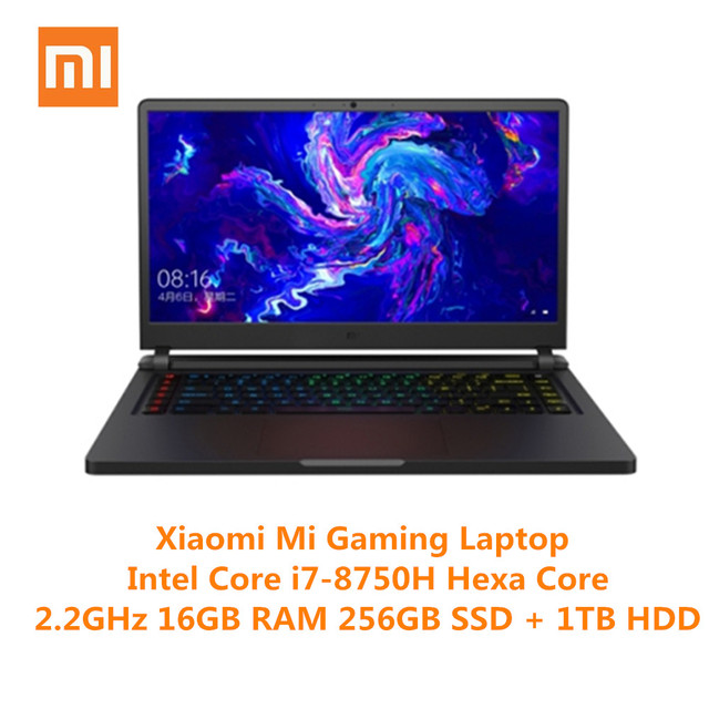 Xiaomi Mi Gaming Laptop Windows 10 Intel Core I7-8750H 16GB RAM 256GB SSD 1TB HDD HDMI Notebook Type-C Bluetooth Gaming Notebook