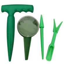 Садовая сеялка, инструмент для переноса растений, инструмент для выращивания рассады, инструменты для выращивания рассады, сеялка, дырокол, резка, 4 комплекта