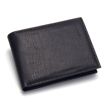 цена на Casual Men's Wallets Leather Solid Luxury Wallet Men Pu Leather Slim Bifold Short Purses Credit Card Holder Business Male Purse