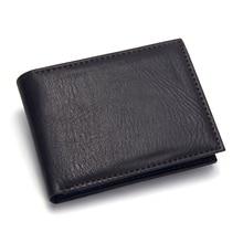 Casual Men's Wallets Leather Solid Luxury Wallet