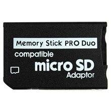 Bastão de memória pro duo mini microsd, leitor de cartão tf para ms adaptador sd sdhc para sony & psp series