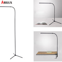 ARILUX 8W Modern Stand Floor Lamp 700LM White & Warm White USB Desk Reading Light Dimmer LED Floor Lamp Fixture for Bedroom