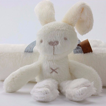 Rabbit baby hanging bed safety seat plush toy Hand Bell Multifunctional Plush Toy Stroller Mobile Gifts 1