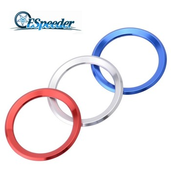 ESPEEDER Car Styling Decoration Ring Steering Wheel Trim Circle Sticker For BMW M3 M5 E36 E46 E60 E90 X1 F48 X3 X5 X6 Aluminum image