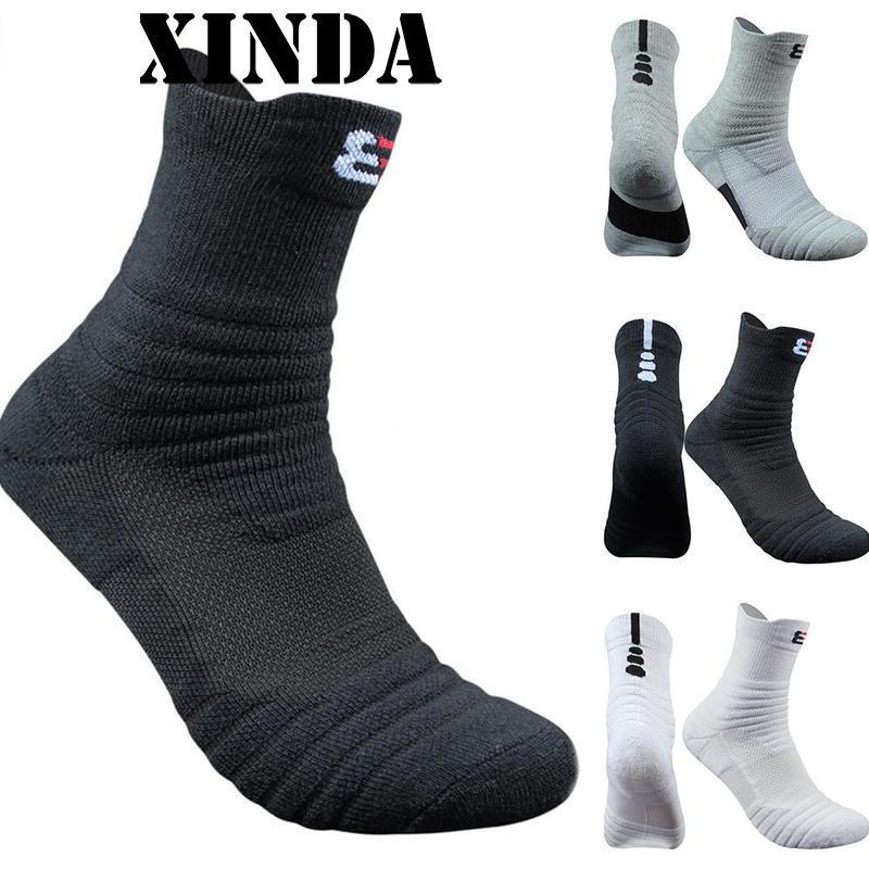 1 Pair Basketball Socks Man Long Thickening Towel Bottom Cotton Socks Outdoors Run Badminton Tennis Sport Socks NYY5309