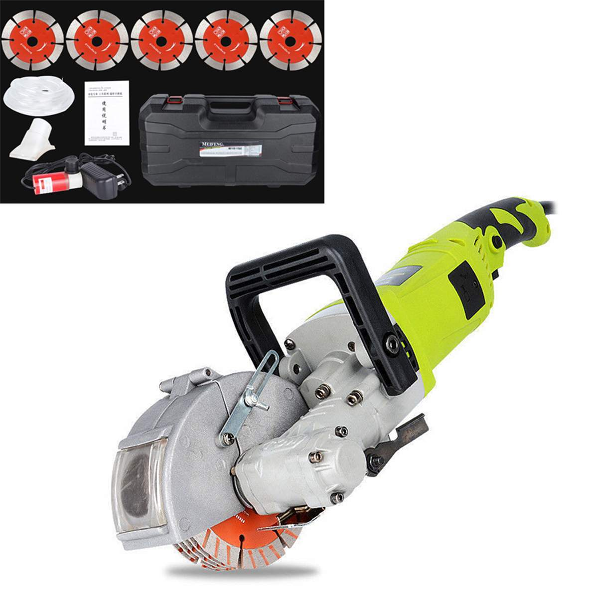 Free Shipping 220V Electric Wall Chaser Groove Cutting Machine Wall Slotting Machine Steel Concrete Cutting Machine 4.0KW