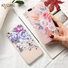 KISSCASE 3D Embossed Phone Case For Huawei Honor 9 lite 8X Cute Flower Nova 3 2 7X 7A Floral Capinha Capa