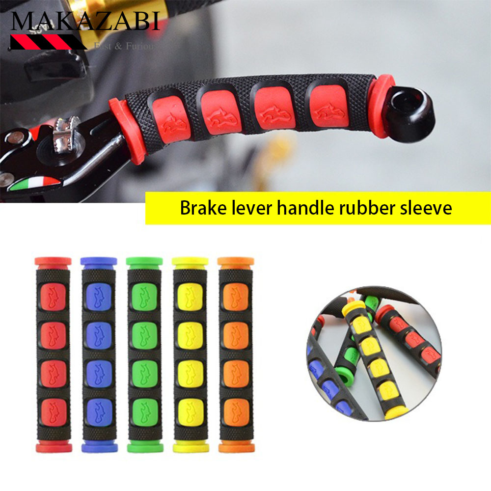 Motorcycle Brake Lever Handle Rubber Sleeve Anti-Skid For <font><b>YAMAHA</b></font> ybr 125g fjr <font><b>1300</b></font> ybr 150 yzf-r125 tmax 300 <font><b>xjr</b></font> <font><b>1300</b></font> etc. image