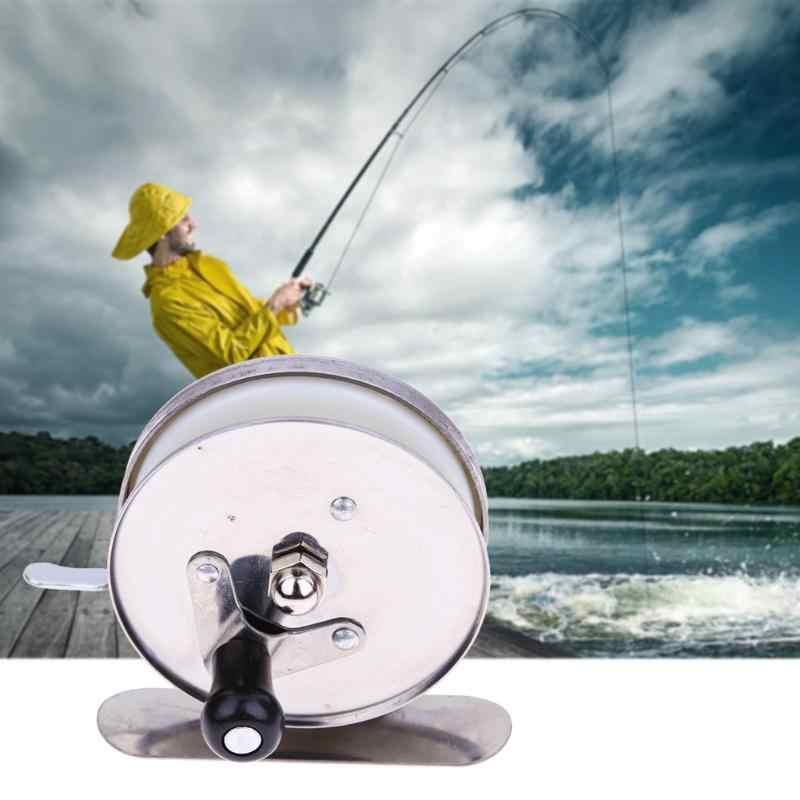 الجليد الصيد القطب مصغرة خط بكرة قضبان الروبيان البسيطة القطب خيط صنارة صيد عجلة قضبان الفولاذ المعادن خفيفة الوزن نقال الصيد بكرات أداة