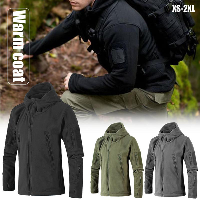 Winter Coat Men Military Tactical Fleece Jacket Uniform Soft Shell Casual Hooded Jacket Men Thermal Army Clothing