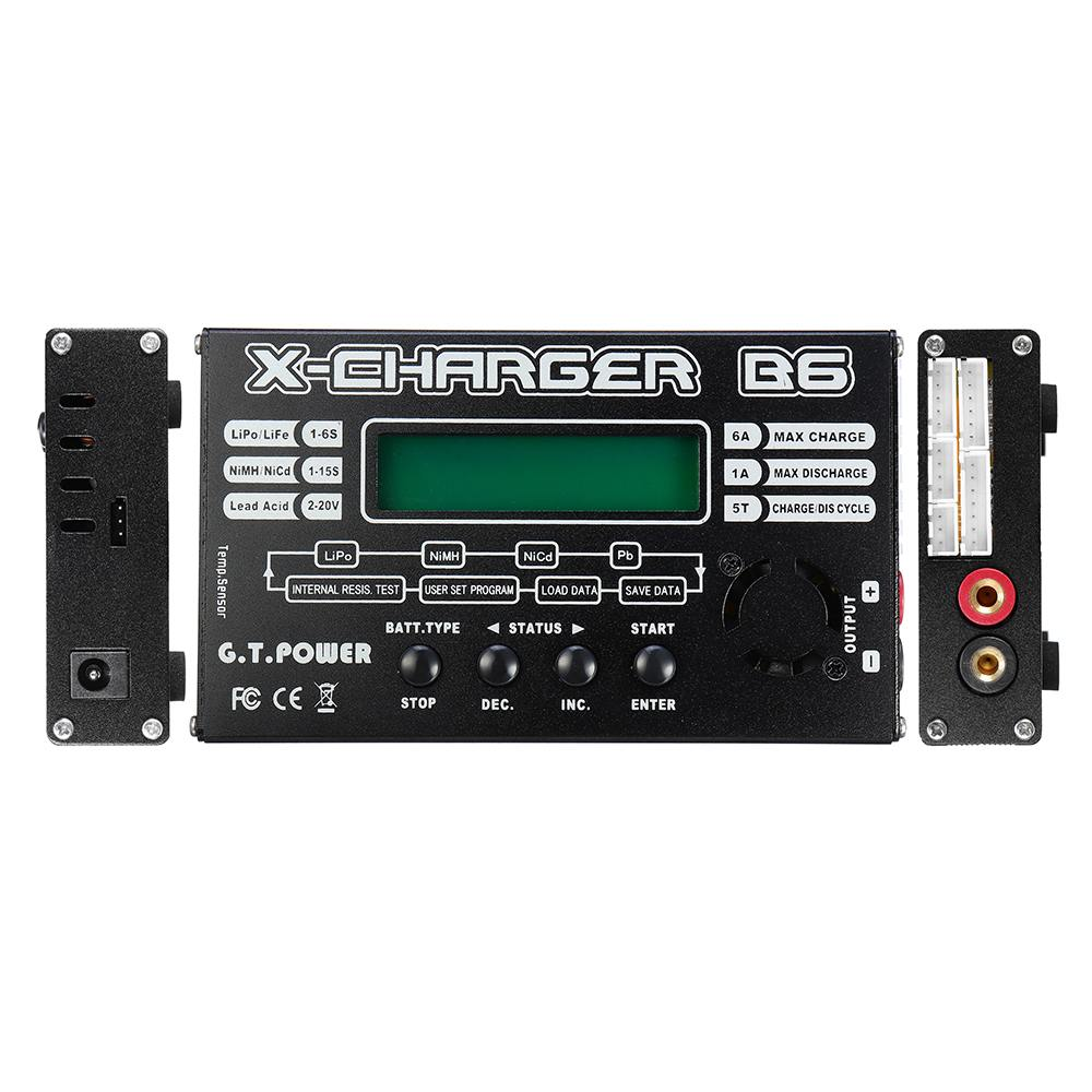 G.T.Power B6 50W 6A DC Battery Balance Charger Discharge for 1 6S Lipo Battery Spare Parts Accessories