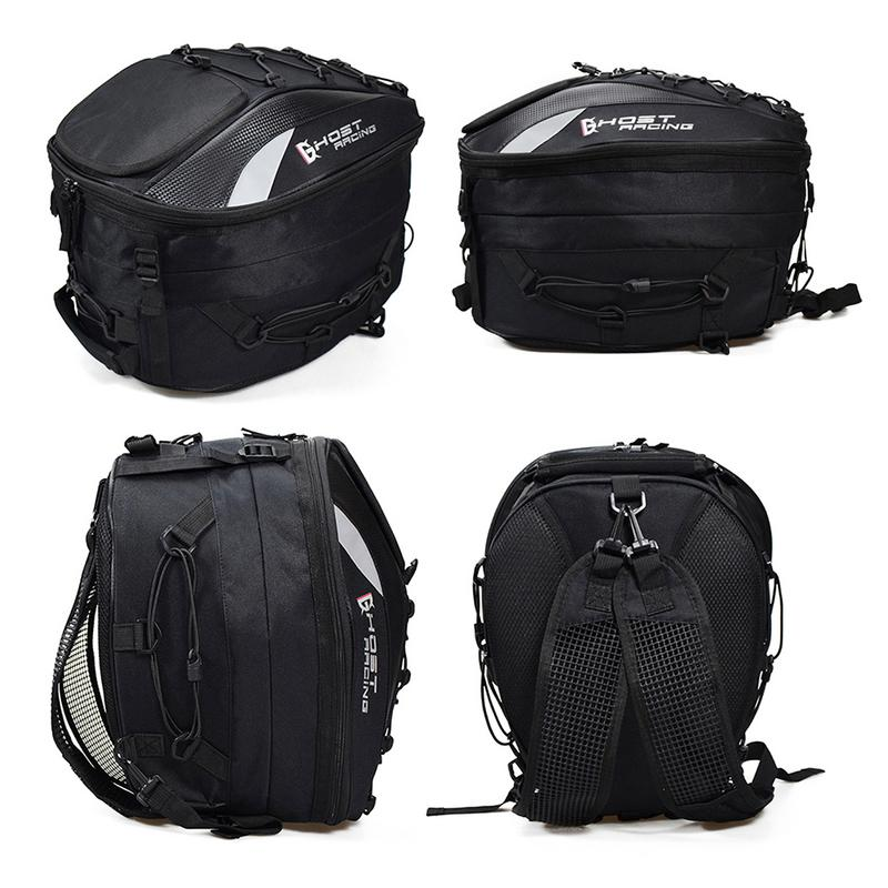 Motorcycle Tail Bag Multi functional Racing Rear Seat Bag Motorcycle Helmet Backpack Locomotive Riding Multi Function Bag