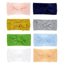 Super Stretchy Knot Nylon Baby Headbands For Newborn Girls Infant Toddlers Kids