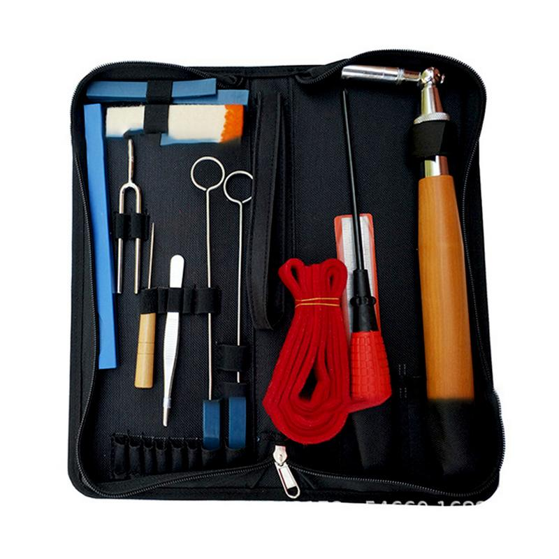 Professional Piano Tuning Kit Tuner Tools Set Piano Tuning Tool Wooden Handle Fixed Tuning Wrench With Bag