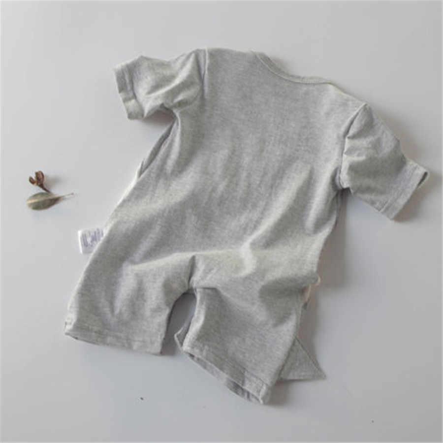 Pudcoco 멋진 멋진 귀여운 유아 신생아 보이 짧은 소매 상어 원피스 romper 점프 슈트 복장