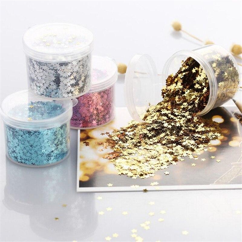 Home & Garden 3mm Laser Sequin Five-pointed Star Diy Craft Supplies Mobile Phone Accessories Shell Peach Heart Star Pet Glitter Powder Ib010