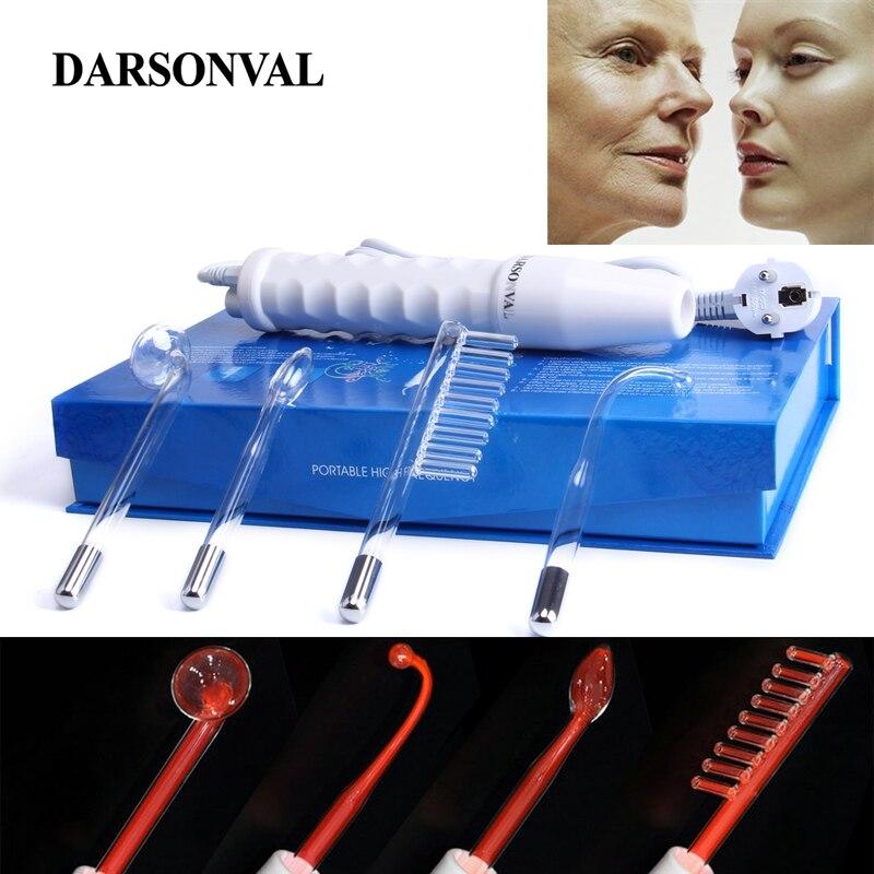 DARSONVAL Électrode Portable Haute Fréquence Spot Acné Remover soins de la peau du visage de Massage Pour Le Visage Beauté Dispositif Spa Salon Accueil