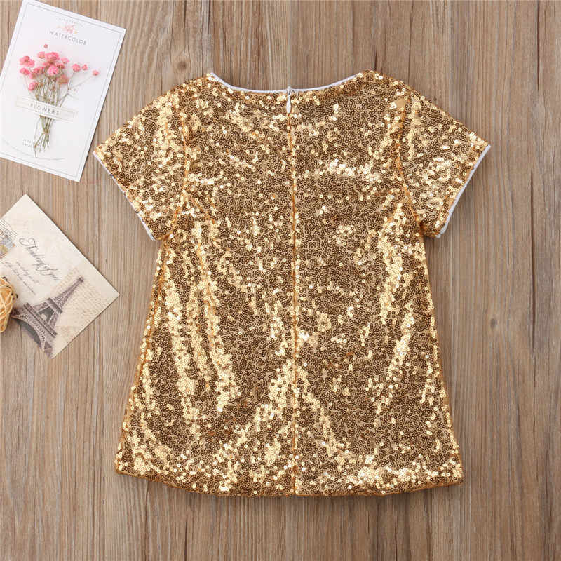 PUDCOCO Newest Princess Toddler Baby Kid Girl Sequin Dress Party Pageant Gown Summer Kids Dresses Sundress Beach Suit 1-5T