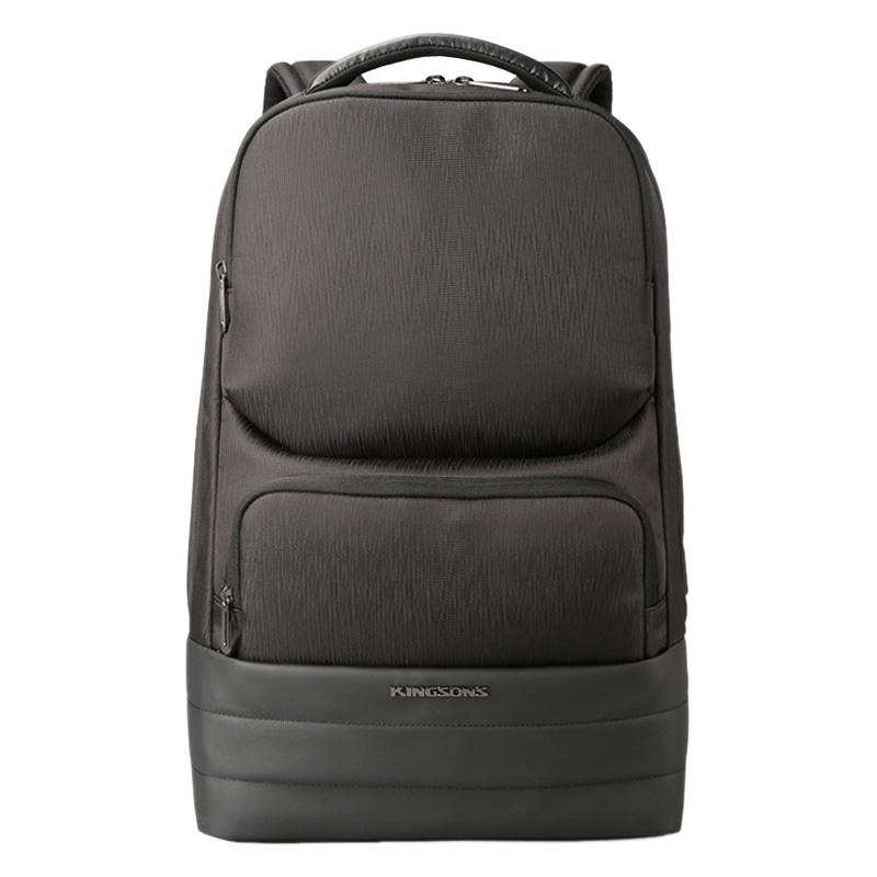 Kingsons hommes sac à dos 2.0 USB recharge hydrofuge sacs à dos d'ordinateur portable hommes d'affaires mode sacs à bandoulière technologie noire