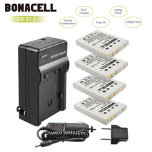 цена на Bonacell 1500mAh EN-EL5 Digital Camera Battery+Charger for Nikon Coolpix P4 P80 P90 P100 P500 P510 P520 P530 P5000 P5100 L10