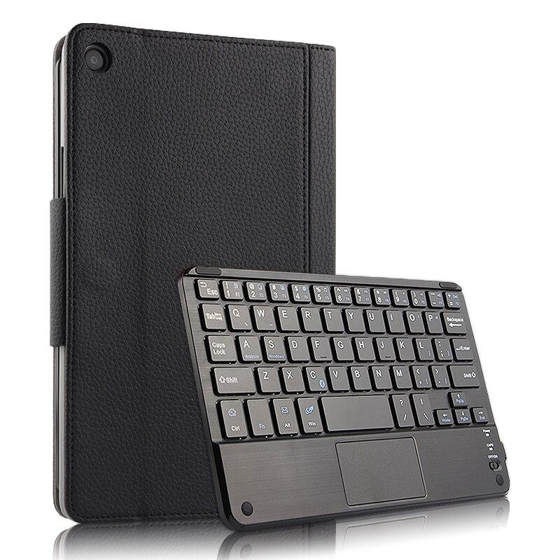 Pour Xiao mi Pad 4 Plus 10.1 pouces étui sans fil clavier PU cuir Flip Stand tablette couverture pour Xiao mi mi Pad 4 Plus clavier