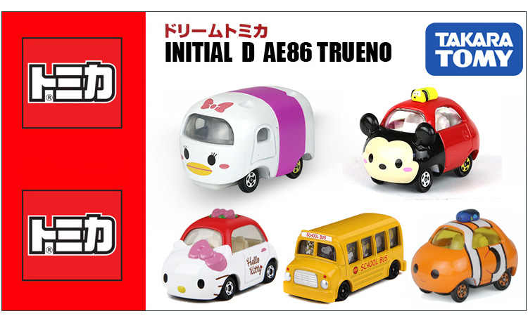 TAKARA TOMY Tomica Racers Roadster Logam Diecast Kendaraan Mobil Mainan Mickey Minnie Donald Bebek Daisy Pete Konyol Baru