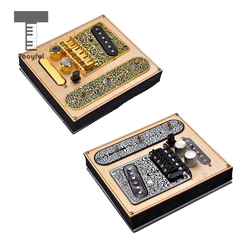 1 Set Prewired Control Plate Bridge Replacement Accessory for Tele TL Guitar homeland 1 set metal guitar saddle bridge 3 way switch control plate knob set for tele guitars