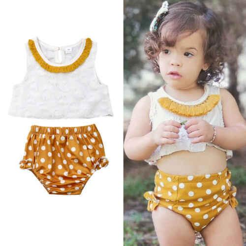 2019 marca nueva 2 piezas de tapa del tanque sin mangas de punto pantalones cortos de traje de niño chico ropa de bebé niñas