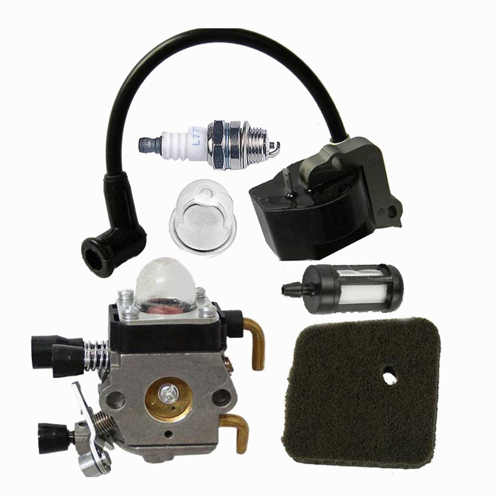 Carburetor Air Filter For Stihl FS55 FS38 FS45 FS46 KM55 FC55 HS45 Trimmer Ignition Coil