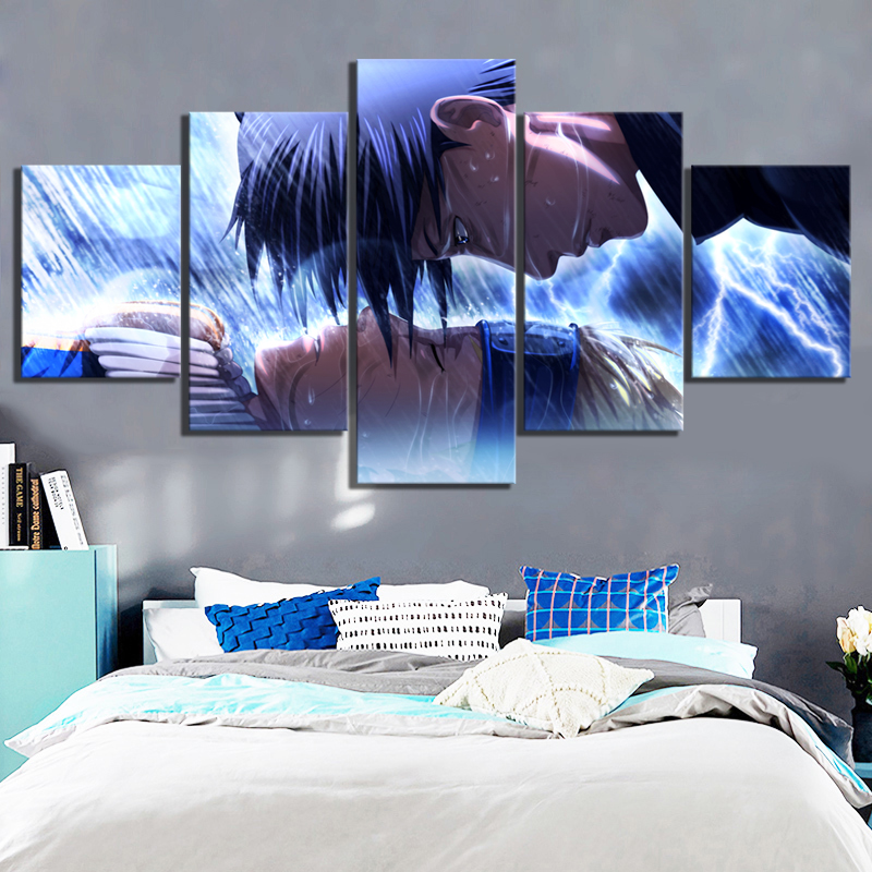 5 Piece HD Cartoon Pictures Naruto Poster Animation Art Canvas Paintings for Children Room Wall Decor