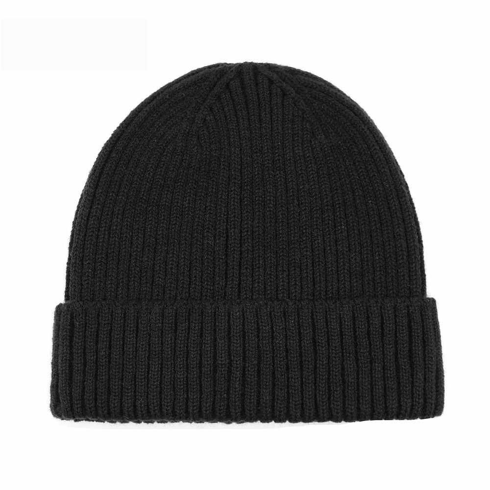 621539e654da4 Fashion Miki Hat Knitted Men Women Solid Fisherman Beanies Acrylic Autumn Winter  Warm Caps Soft Skullies