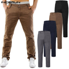 Stylish Men Chinos Pants Man Dress Pants Fashion Cargo Khaki Pants Slim Fit Trousers Casual Pants Button Pantalon Autumn Winter