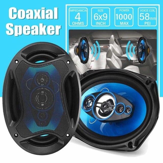 12V 1000W 6x9 inch 2-way Car Coaxial Speaker Auto Vehicle Audio Tweeter Loundspeaker Music Stereo Sub Woofer Speakers 2
