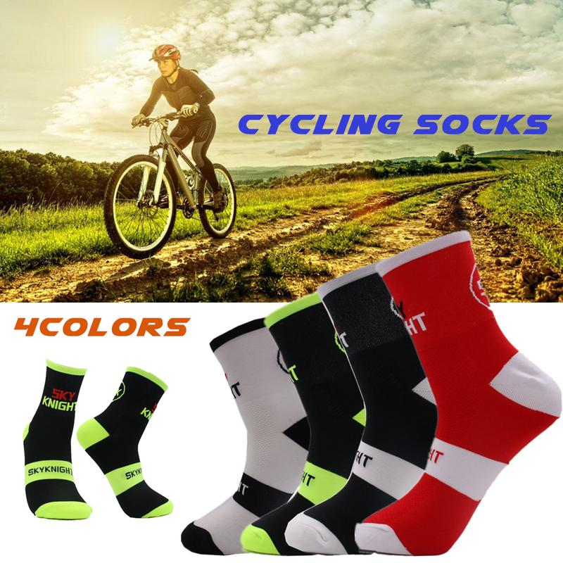 Unisex Professional Basketball Socks Sport Socks Breathable Road Bicycle Socks Outdoor Racing Cycling Riding Socks Four Seasons