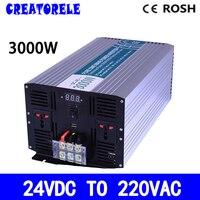 P3000 242 DC AC солнечный инвертор 3000 Вт 24 В до 220 В инвертор Чистая Синусоидальная волна преобразователь напряжения