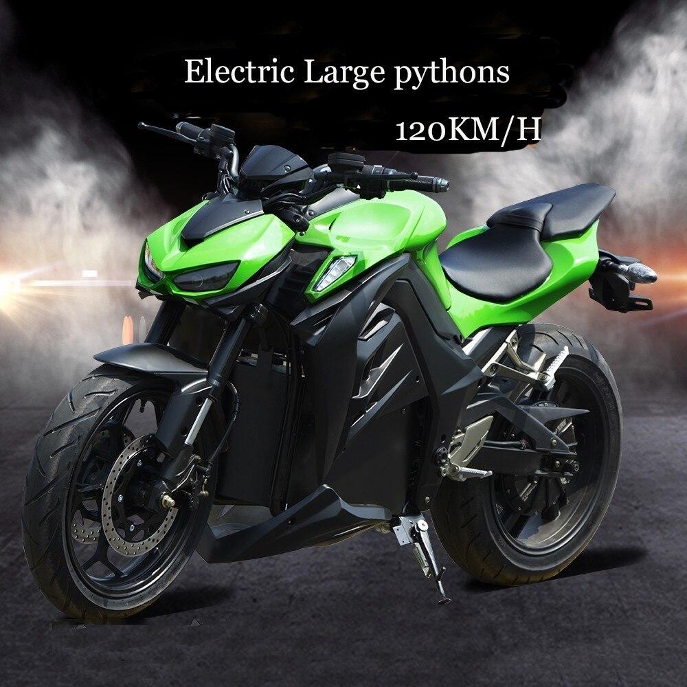 Python électrique puissance moto une voiture de sport rue huile changement électrique course 72 v batterie adulte lourde Machine grand Refit