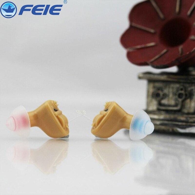 휴대용 미니 보청기 음성 볼륨 조절 가능한 사운드 앰프 보이지 않는 귀 청각 보조 장치 노인 S 9A 무료 배송-에서귀 케어부터 미용 & 건강 의  그룹 1